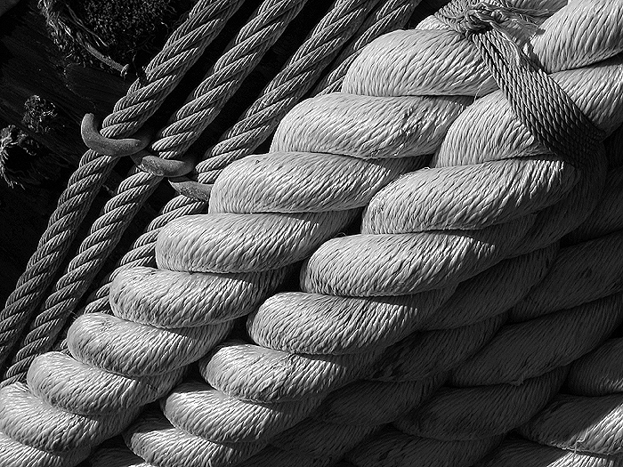 ROPE - The strength of rope is it's tiny strands, bound together, intertwined, with a beginning and an end, can twist, get into knots, form links, carry heavy loads, help guide us, or end a life.