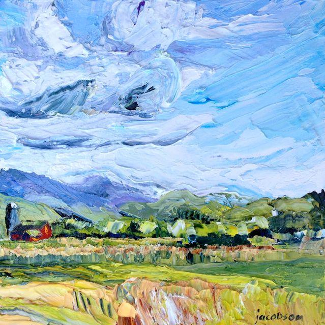 Sauer Farm Oil on canvas, 10x10