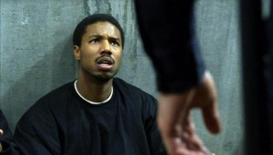 "Michael Jordan, as Oscar Grant, in the film, ""Fruitvale Station."