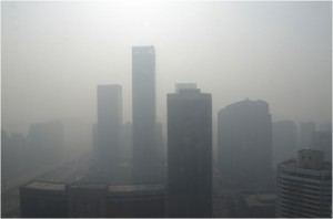 Downtown Beijing, not on a good day.