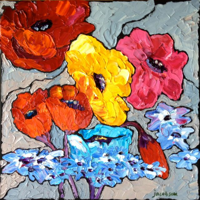Poppies No. 2, 16x16