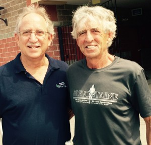 Frank Giannino (left) and Frank Shorter