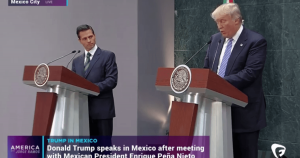 Mexican Preidnet Enrique Pena Nieto and Donald Trump ... a language barrier?