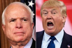 John McCain and Donald Trump ... no love lost