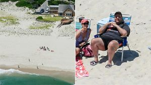 Gov. Chris Christie and family enjoy an exclusive day on the beach.