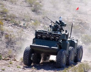 The U.S.Army Crusher robotic weapon.
