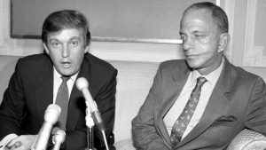 Donald Trump and mentor Roy Cohn.