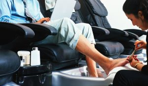 A male pedicure ... good for body and soul