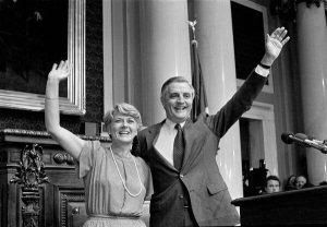 Geraldine Ferraro and Walter Mondale, the Democratic Party's presidential ticket in 1984. She ran for veep.