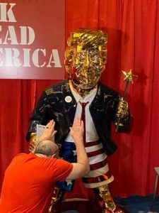 The Golden Trump at CPAC.