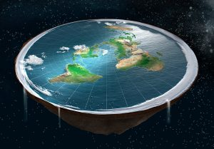 A version of what some flat earthers believe our plan it looks like.